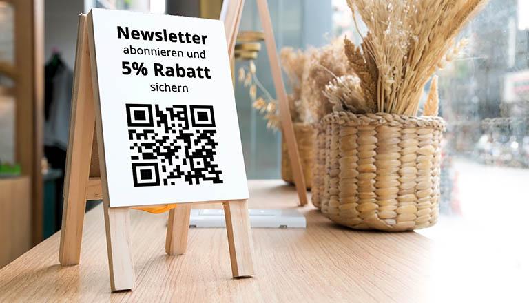 Campaign.Plus QR Code Newsletteranmeldung